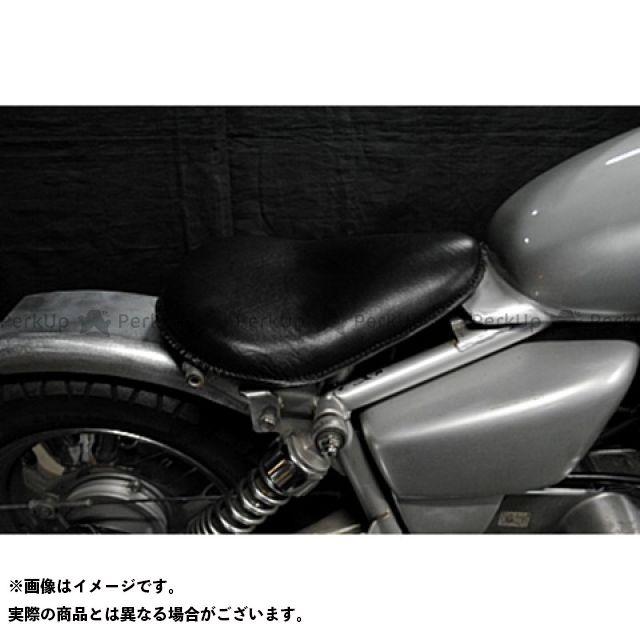 部品屋K&W マグナ50 Magna50用 フラットフェンダー対応ソロシートKIT リジットタイプ(本革サドルシート) カラー:黒 ブヒンヤケーアンドダブリュー