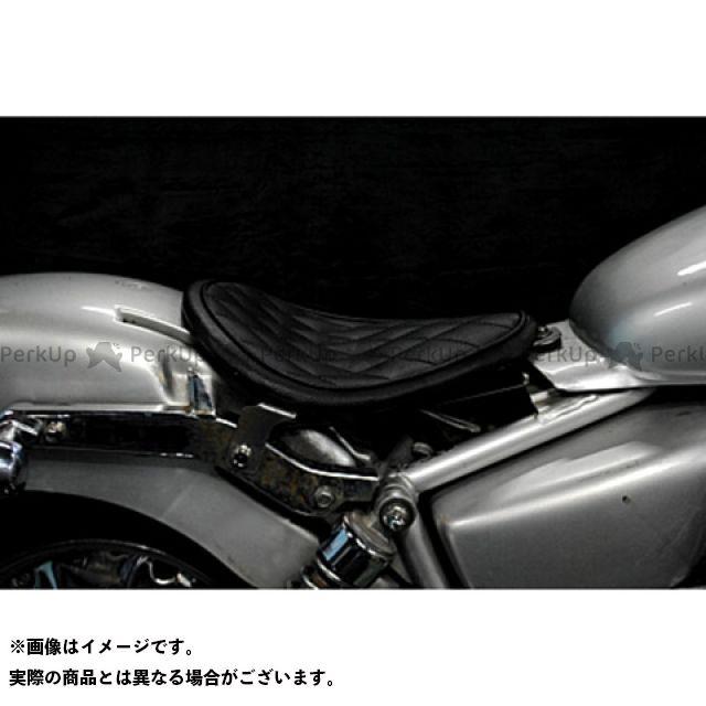 部品屋K&W マグナ50 Magna50用 純正フェンダー対応ソロシートKIT リジットタイプ(ステッチ) タイプ:ダイヤ カラー:黒 ブヒンヤケーアンドダブリュー