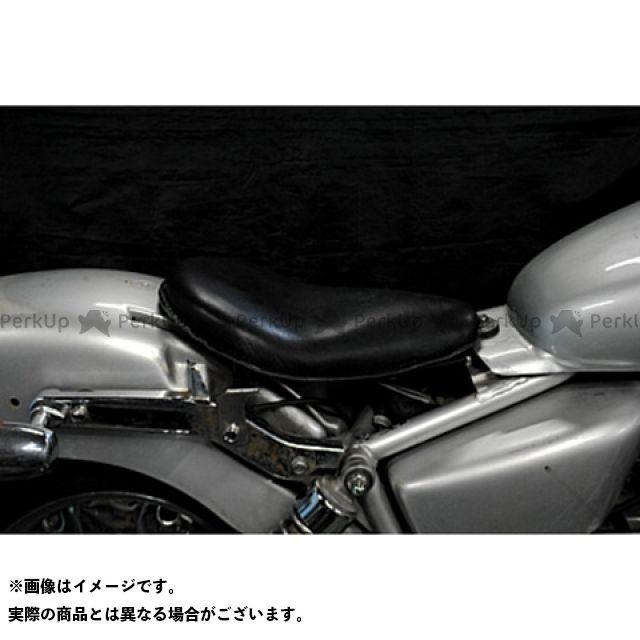 部品屋K&W マグナ50 Magna50用 純正フェンダー対応ソロシートKIT リジットタイプ(本革サドルシート) カラー:黒 ブヒンヤケーアンドダブリュー