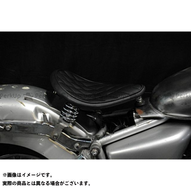 部品屋K&W マグナ50 シート関連パーツ Magna50用 純正フェンダー対応ソロシートKIT スプリングタイプ(ステッチ) ダイヤ 赤茶