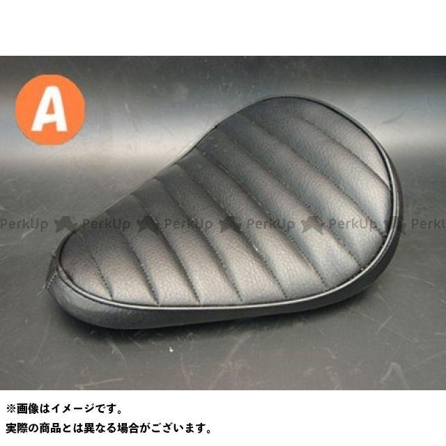 部品屋K&W マグナ50 Magna50用 純正フェンダー対応ソロシートKIT スプリングタイプ(ステッチ) Aタイプ 黒