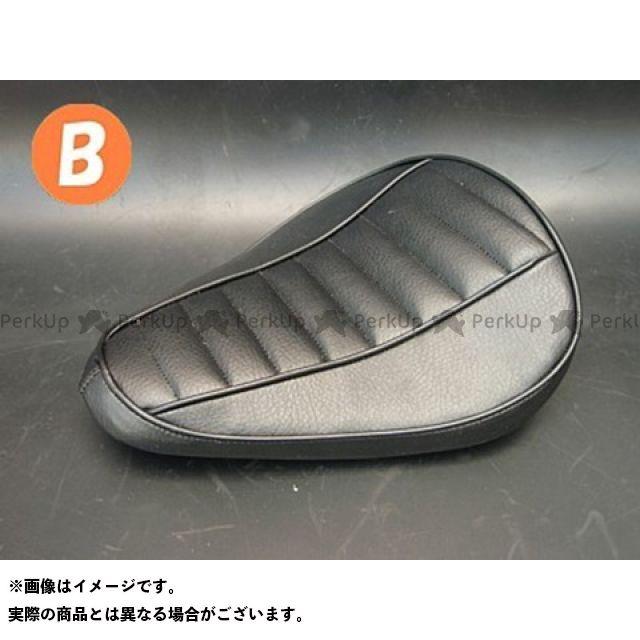 部品屋K&W マグナ50 Magna50用 純正フェンダー対応ソロシートKIT スプリングタイプ(ステッチ) Bタイプ 黒