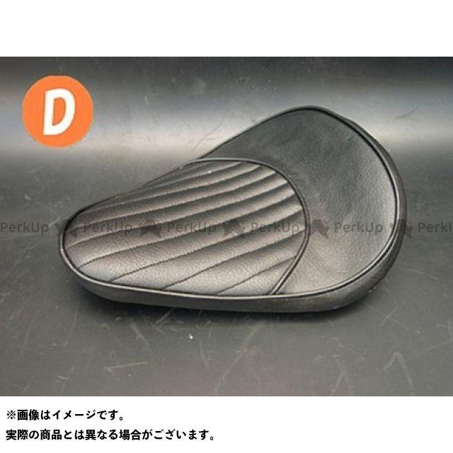 部品屋K&W マグナ50 Magna50用 純正フェンダー対応ソロシートKIT スプリングタイプ(ステッチ) Dタイプ 黒