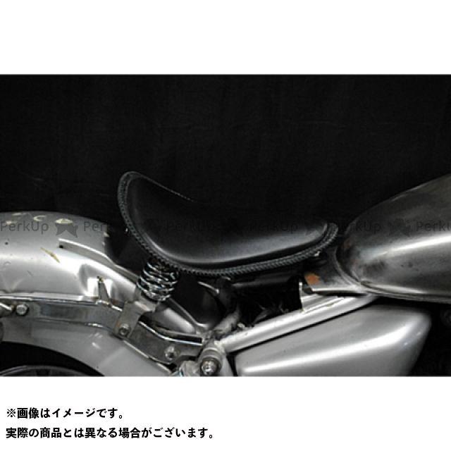 部品屋K&W マグナ50 Magna50用 純正フェンダー対応ソロシートKIT スプリングタイプ(本革レース編み込みサドルシート) 黒 ブヒンヤケーアンドダブリュー