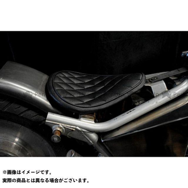 部品屋K&W Vツインマグナ Magna250用 専用ソロシートKIT リジットタイプ(ステッチ) タイプ:ダイヤ カラー:白 ブヒンヤケーアンドダブリュー