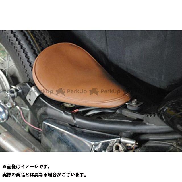 部品屋K&W ビラーゴ250(XV250ビラーゴ) 専用ソロシートKIT リジットタイプ(プレーン) カラー:赤茶 ブヒンヤケーアンドダブリュー