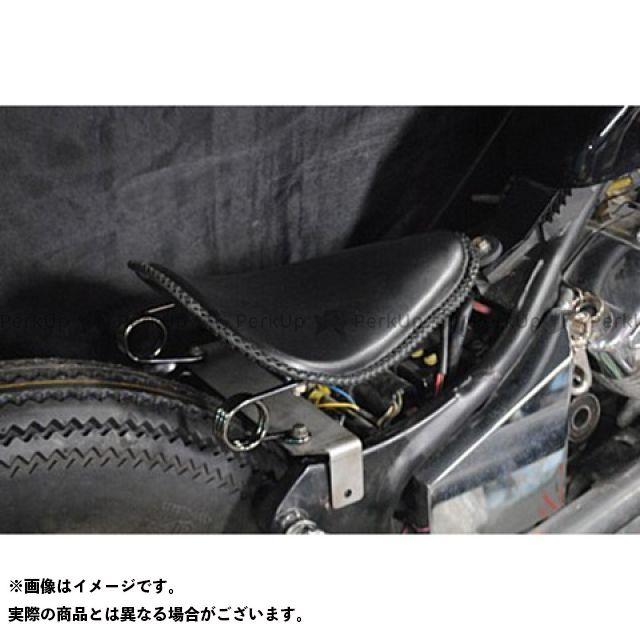 【エントリーで最大P21倍】部品屋K&W ビラーゴ250(XV250ビラーゴ) 専用ソロシートKIT スプリングタイプ(本革レース編み込みサドルシート) カラー:黒 ブヒンヤケーアンドダブリュー