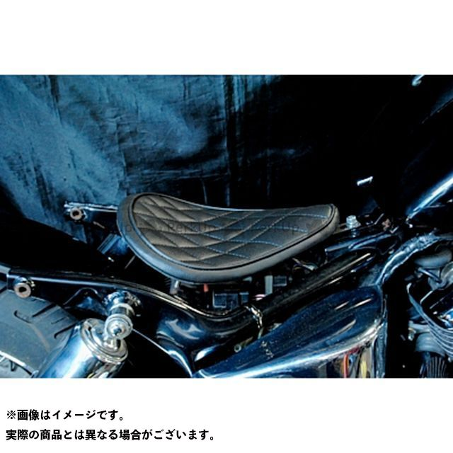 部品屋K&W シャドウ400 SHADOW専用ソロシートKIT リジットタイプ(ステッチ) タイプ:ダイヤ カラー:黒 ブヒンヤケーアンドダブリュー