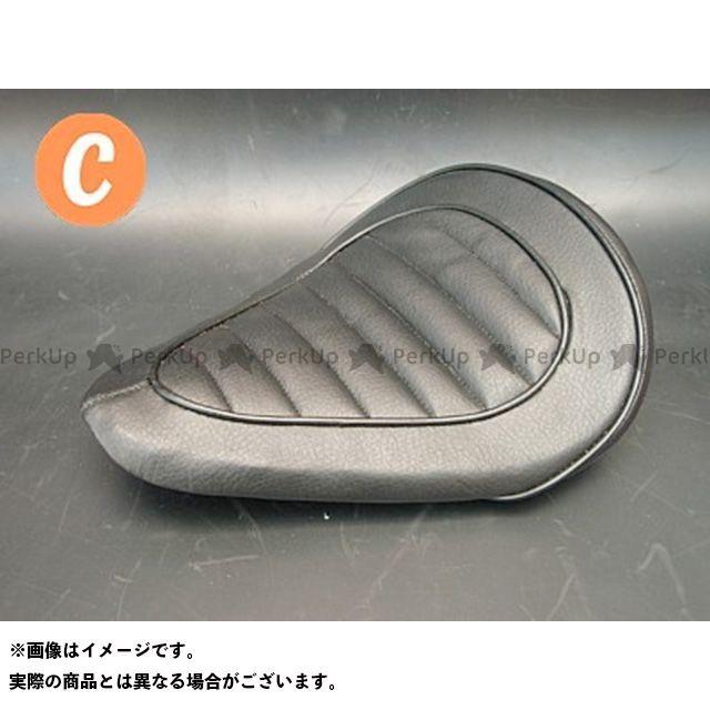 部品屋K&W シャドウ400 SHADOW専用ソロシートKIT リジットタイプ(ステッチ) タイプ:Cタイプ カラー:黒 ブヒンヤケーアンドダブリュー