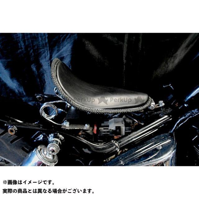 【エントリーで最大P21倍】部品屋K&W シャドウ400 SHADOW専用ソロシートKIT スプリングタイプ(本革レース編み込みサドルシート) カラー:黒 ブヒンヤケーアンドダブリュー