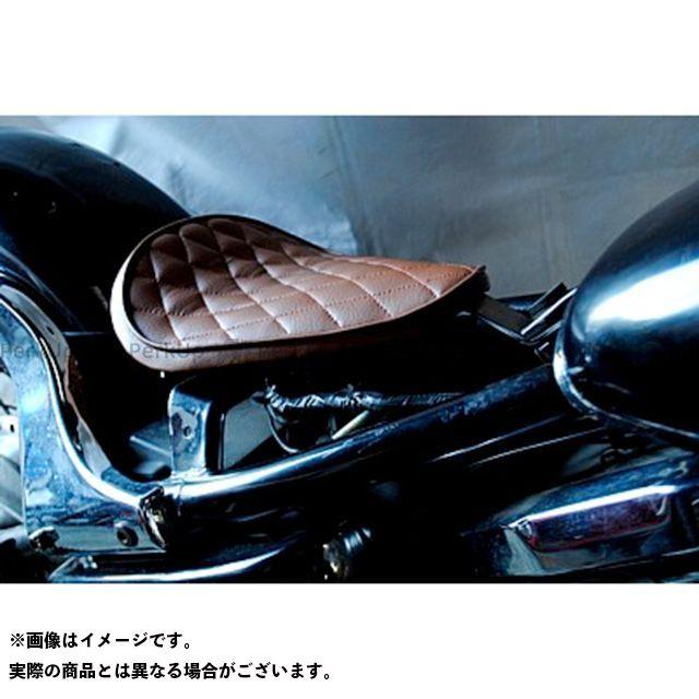 部品屋K&W バルカン400 専用ソロシートKIT リジットタイプ(ステッチ) タイプ:Eタイプ カラー:薄茶 ブヒンヤケーアンドダブリュー