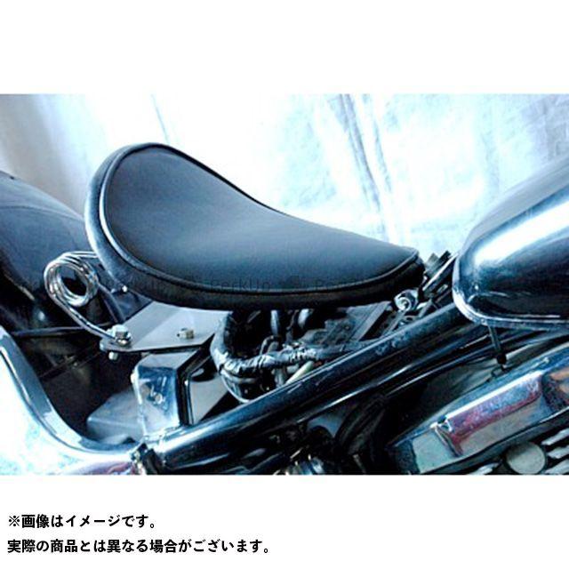 部品屋K&W バルカン400 専用ソロシートKIT スプリングタイプ(プレーン) 黒