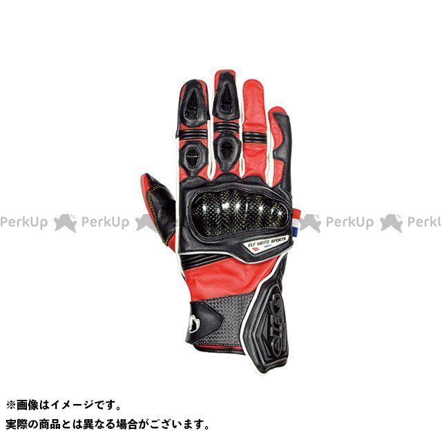 【エントリーで更にP5倍】elf riding wear ELG-7266 Leather Gloves カラー:レッド サイズ:L メーカー在庫あり エルフ ライディングウェア