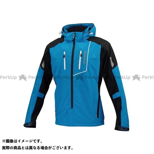 コミネ JK-112 プロテクトハーフメッシュパーカ-ゲンリ カラー:シアン/ブラック サイズ:2XL メーカー在庫あり KOMINE