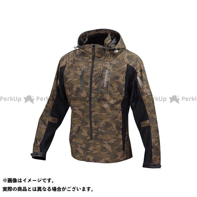 コミネ JK-112 プロテクトハーフメッシュパーカ-ゲンリ カラー:カモ/ブラック サイズ:WM メーカー在庫あり KOMINE