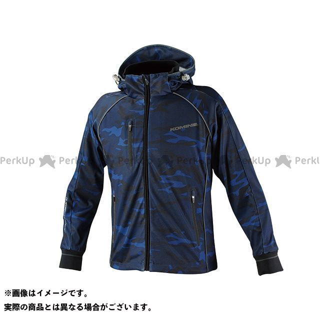 コミネ JK-113 スムースメッシュジャージパーカ-ザネ カラー:ブルー カモ サイズ:L メーカー在庫あり KOMINE