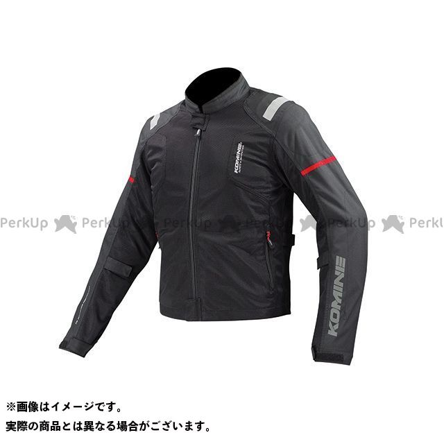送料無料 コミネ KOMINE ジャケット JK-116 プロテクトハーフメッシュジャケット-フドー ブラック XL