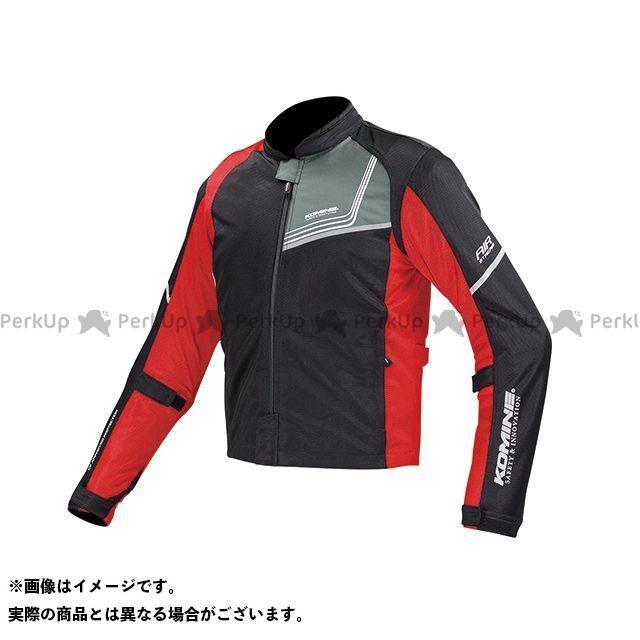 コミネ JK-117 プロテクトフルメッシュジャケット-ジモン カラー:ブラック/レッド サイズ:M KOMINE