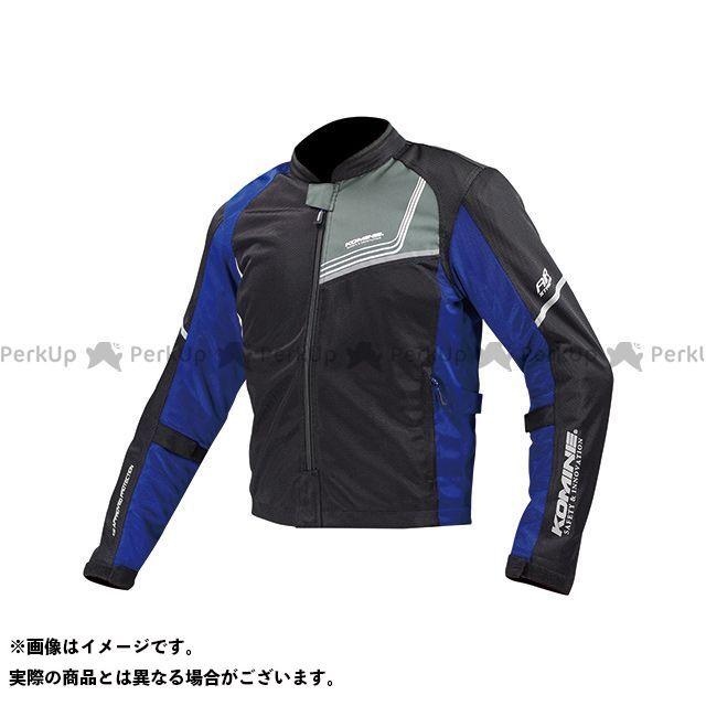 送料無料 コミネ KOMINE ジャケット JK-117 プロテクトフルメッシュジャケット-ジモン ブラック/ブルー XL