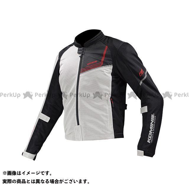 送料無料 コミネ KOMINE ジャケット JK-117 プロテクトフルメッシュジャケット-ジモン シルバー/ブラック WL