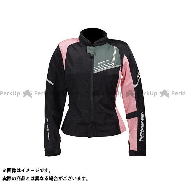 送料無料 コミネ KOMINE ジャケット JK-117 プロテクトフルメッシュジャケット-ジモン ブラック/ピンク WM