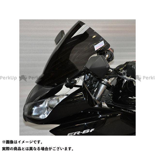 【無料雑誌付き】スキッドマークス ER-6f ニンジャ400R ニンジャ650R ウィンドスクリーン ダブルバブルタイプ カラー:アンバー Skidmarx