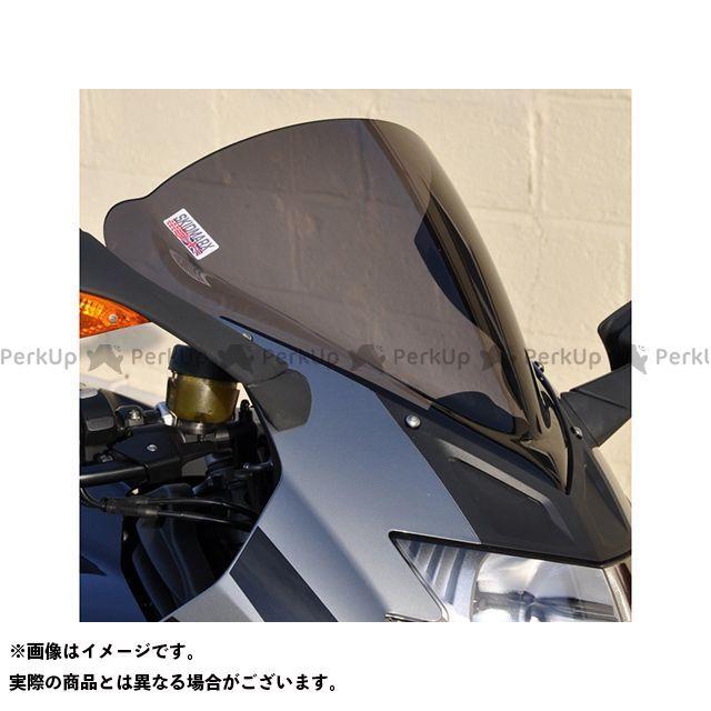【無料雑誌付き】スキッドマークス K1200S K1300S ウィンドスクリーン ダブルバブルタイプ カラー:ブラック Skidmarx