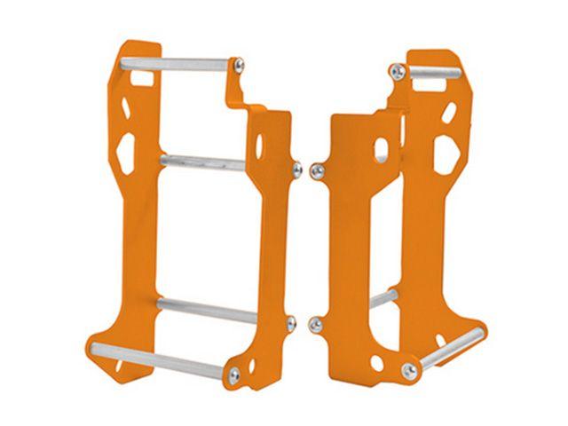 送料無料 クロスプロ フリーライド250R ラジエター アルミニウム ラジエーター ブレース オレンジ