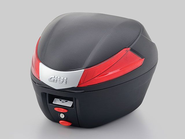 送料無料 ジビ GIVI ツーリング用ボックス モノロックケース B34シリーズ(ストップランプ無し) 未塗装ブラック