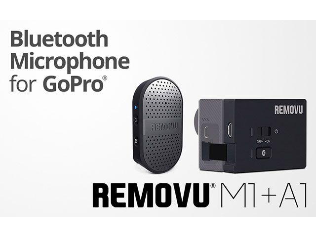 REMOVU リムーブ ツーリングギア・その他ツーリング用品 REMOVU M1+A1 ウェアラブル防水ブルーツースGoPro専用マイクロフォンキット