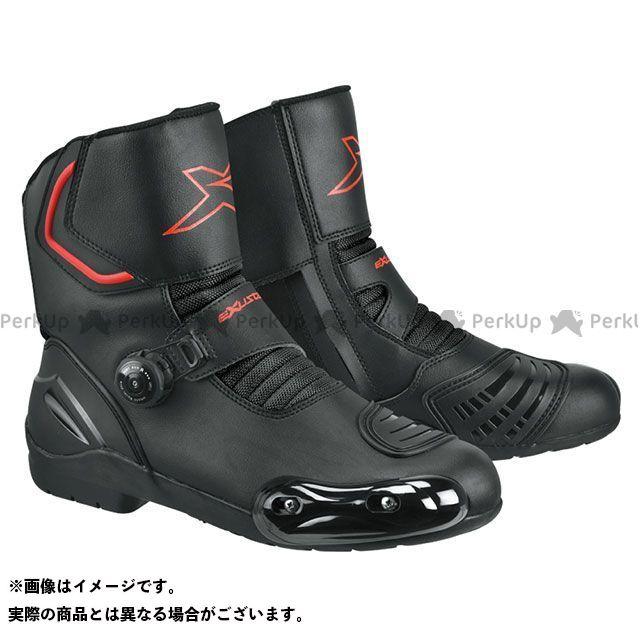 【エントリーで更にP5倍】EXUSTAR E-SBR2141W ダイヤル式プロテクションショートレーシングブーツ カラー:ブラック サイズ:43/27.0cm エグザスター