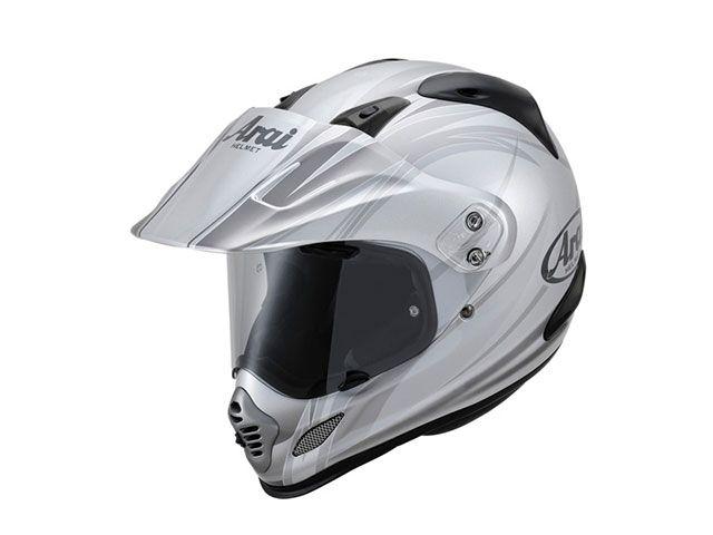 アライ ヘルメット Arai オフロードヘルメット TOUR CROSS 3 CONTRAST(ツアークロス3・コントラスト) シルバー 55-56cm