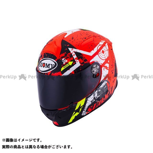 SUOMY スオーミー フルフェイスヘルメット SR SPORT STARS(エスアールスポーツ・スターズ) 日本特別仕様 イエロー S/55-56cm