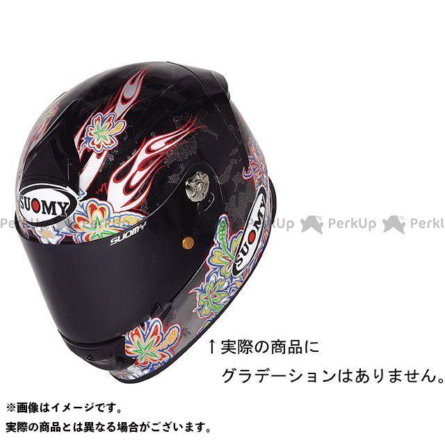 SUOMY スオーミー フルフェイスヘルメット SR SPORT FLOWER(エスアールスポーツ・フラワー) 日本特別仕様 パールブラック L/59-60cm