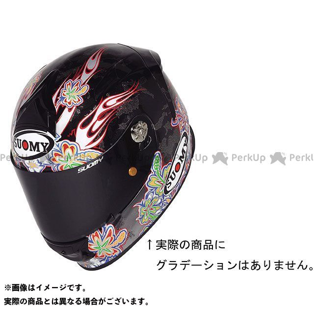 SUOMY スオーミー フルフェイスヘルメット SR SPORT FLOWER(エスアールスポーツ・フラワー) 日本特別仕様 パールブラック XL/61-62cm