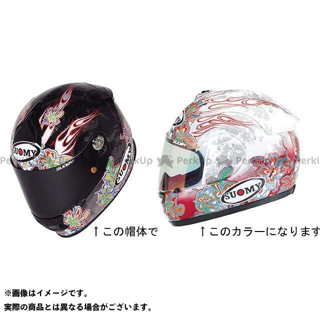 SUOMY スオーミー フルフェイスヘルメット SR SPORT FLOWER(エスアールスポーツ・フラワー) 日本特別仕様 ホワイト/レッド M/57-58cm