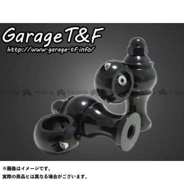 ガレージT&F SR400 ドッグボーンハンドルポスト カラー:ブラック ガレージティーアンドエフ