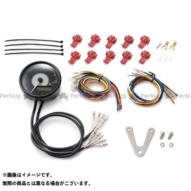 デイトナ 汎用 VELONA 電気式タコ&スピードメーター φ80 ステンレスボディ ホワイトLED タイプ:9000rpm DAYTONA