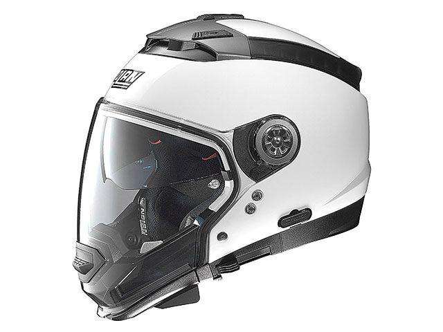 送料無料 NOLAN ノーラン システムヘルメット(フリップアップ) N44EVO メタルホワイト/5 XL/61-62cm