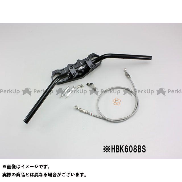 ハリケーン ZZR1400 バーハンドルキット カラー:ブラック タイプ:フルステンレスブレーキホース HURRICANE