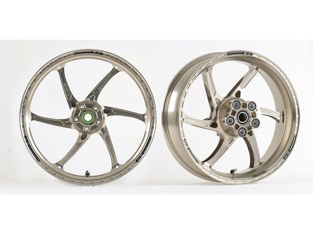 OZレーシング CBR600RR ホイール本体 アルミ鍛造 H型6本スポーク ホイール GASS RS-A 前後セット F3.50-17/R5.50-17 ゴールドペイント