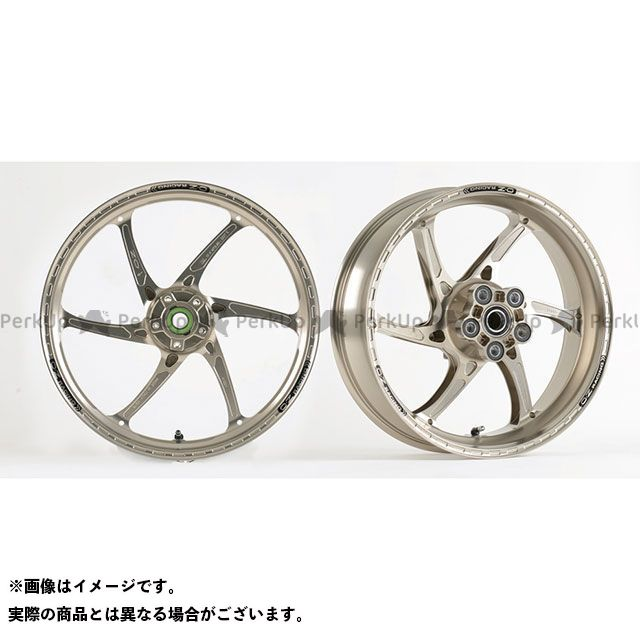 OZレーシング ZRX1200ダエグ ホイール本体 アルミ鍛造 H型6本スポーク ホイール GASS RS-A 前後セット F3.50-17/R5.50-17 ゴールドペイント