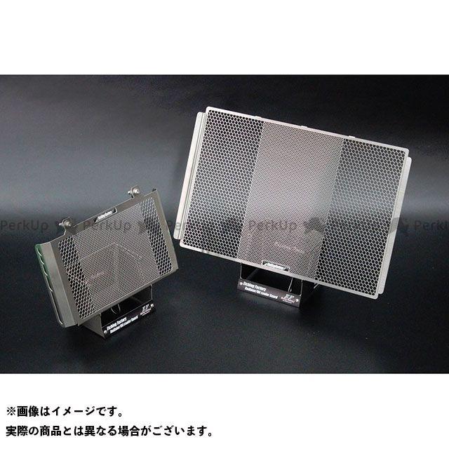 送料無料 エッチングファクトリー MT-10 オイルクーラー関連パーツ MT-10用 ラジエター&オイルクーラーガードSET 青エンブレム