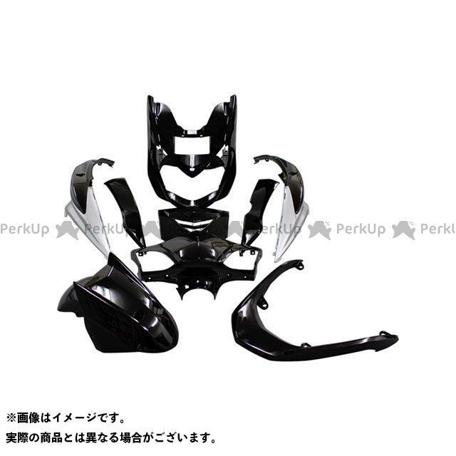 スーパーバリュー シグナスX シグナスX FI SE44J 外装9点セット カラー:ブラック /シルバー supervalue