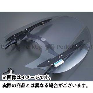 ワイズギア XVS1300CA ウインドシールド S(小型) Mブラック Y'S GEAR