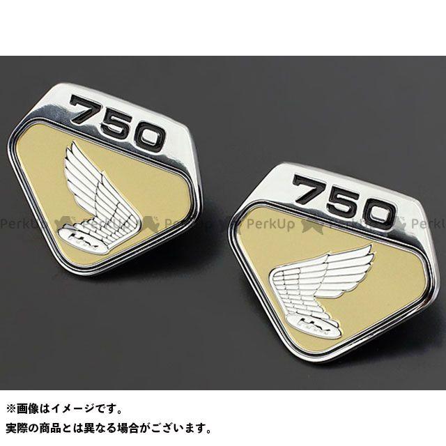 PMC ドリームCB750フォア サイドカバーエンブレム K0タイプ 左右セット カラー:ゴールド ピーエムシー