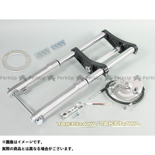 SP武川 モンキー フロントフォーク φ27フロントフォークキット タイプ2(8インチ/ノーマル折畳/ドラム) ブラック 40mm