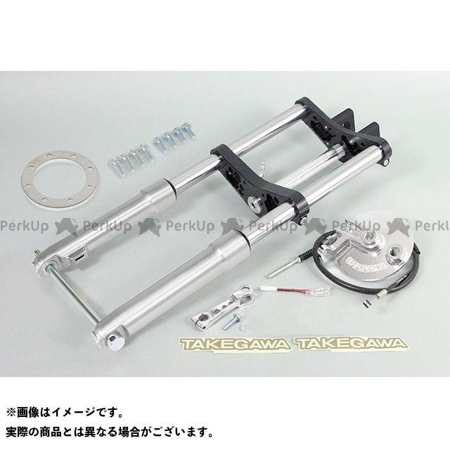SP武川 ゴリラ モンキー フロントフォーク φ27フロントフォークキット タイプ2(8インチ/バーハンドル/ドラム) ブラック 40mm