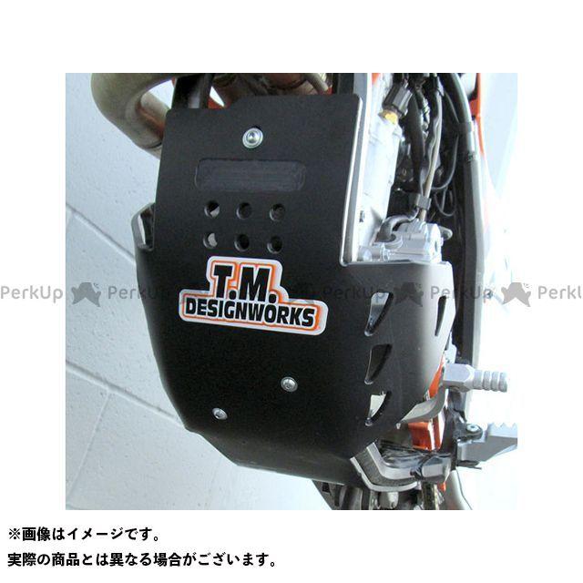 TMデザイン 250/300XCW/EXC 12-13 Dフルカバースキッドプレート ブラック T.M.DESIGNWORKS