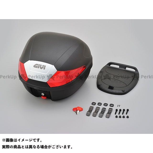 送料無料 ジビ GIVI ツーリング用ボックス B29N モノロックケース 1ボタン(レッドレンズ)